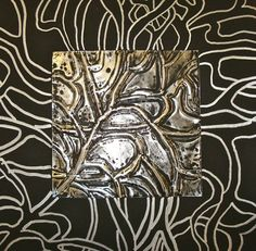 Emboss on Heavy Foil then continue pattern on to paper with silver sharpie..so cool! art museum, art teacher, art lesson, paper, art plastiqu, art room, heavi foil, emboss, continu pattern