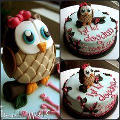 baby shower cakes, cake recip, wedding cakes, cutest owl, cake photo, cake cake, owl cakes, yummi cake, birthday cakes