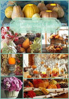 Fall Inspiration -decorating with pumpkins and gourds