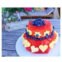 fresh watermelon cake!! clean eating. <3