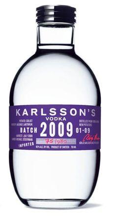 Karlsson's Vodka Batch 2009 - vintage vodka #vodka #topvodka