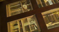 cigar coffee table cigar humidor.  Check out the review. http://www.theperfectgiftsforhim.com/the-coffee-table-cigar-humidor-review/