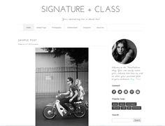 Wordpress Template - Signature Class by Theme Fashion on Creative Market