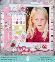 So Loved - Scrapbook.com - Made with Fancy Pants Designs products.