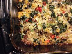 Primal Beef, Kale, & Mushroom Breakfast Bake.