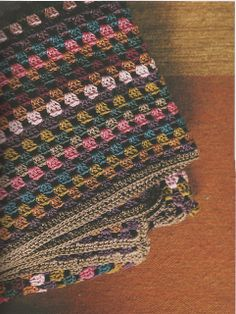 Ravelry: Traditional Square Motif Throw pattern by Erika Knight