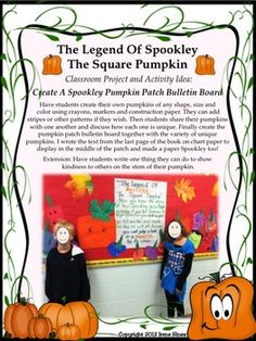 """Halloween Happenings: A Thematic & Activity Packet For Halloween. NEWLY EXPANDED to 95 pages!!! Now includes activities to go with the book """"The Legend Of Spookley The Square Pumpkin"""" ~Unit includes games, activities & printables all relating to Halloween. ~Halloween Word & Book List ~Five Senses Printable ~Halloween Rhymes & Verbs ~Halloween Word Scramble & Web ~Writing Activities ~ABC Order Activities ~Venn Diagrams ~Word search & Maze ~ Many Graphic Organizers ~Math Ghost-It Games"""