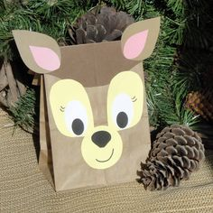 Deer Treat Sacks - Woodland Forest Fawn Hunter Theme Birthday Party Goody Bags by jettabees on Etsy