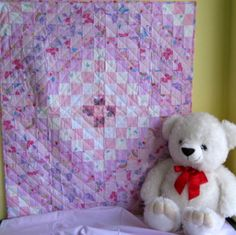 Around the world in Pink - a handmade baby quilt