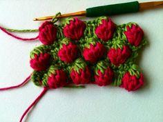 Como hacer Punto Fresas de Crochet Tutorial - Patrones para Crochet
