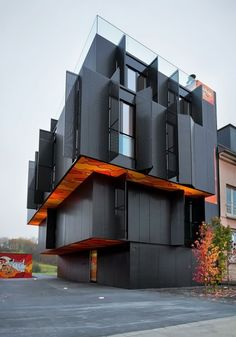 houses, architects, black house, modern architecture, buildings, girl style, apartments, design, luxembourg