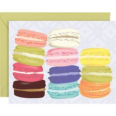 Macarons Notecards |