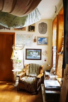 Myf Shepherd at Home in New York City « the selby. Love the colors and textiles!