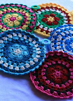 2011 Potholder Swap! by KnittyGrittyThoughts, via Flickr