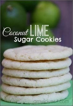 Young Living Essential Oils: Coconut Lime Sugar Cookies Recipe
