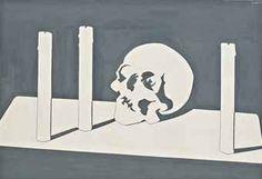 Luis Fernandez - Crâne et bougies, 1966