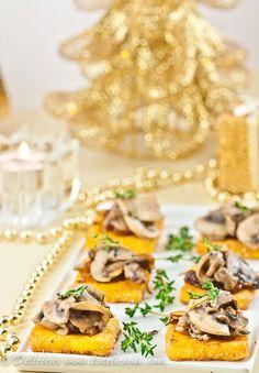 Mushroom and Caramelised Onion Polenta Bites