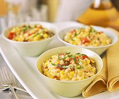 Check out this delightful take on a classic #risotto with #sausage and #corn.