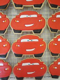 Disney Cars Lightening McQueen Cookies