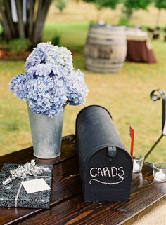 Cute idea..old mailbox used as card holder at wedding.