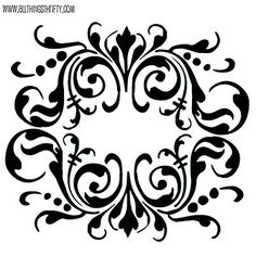 free stencil patterns @ allthingsthrifty.com