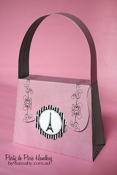 Party de Paris Handbag - Girls Birthday Party Gift Box - DIY PRINTABLE FILE