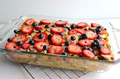 Berry Simple French Toast Bake - healthy and delicious!