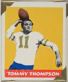 Leaf Gum, Co., Chicago, IL. Tommy Thompson, from the All-Star Football series (R401-2), issued by Leaf Gum Company, 1948. The Metropolitan Museum of Art, New York. The Jefferson R. Burdick Collection, Gift of Jefferson R. Burdick (Burdick 326, R401-2.9) #MetGridironGreats