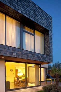 Slate Covered Facade Villa by BBVH Architects | Wave Avenue | #slate #facade #architecture #design