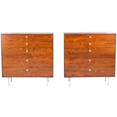 Pair of George Nelson Rosewood Thin Edge Chests