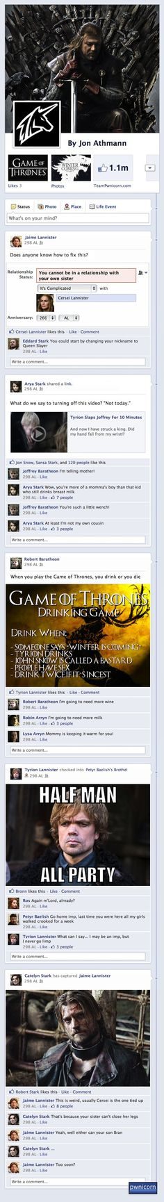 Game of Thrones on Facebook