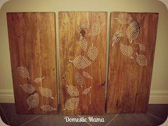 Tales of a Domestic Mama: DIY Wood Art