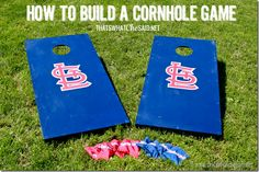How to build a cornhole game!  Great gift idea for Father's Day #yearofcelebrations #fathersday #diy