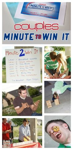 This looks SO fun- Couples Minute to Win It!