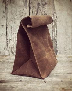 Peg and Awl Waxed Lunch bag | How a grown man carries a sandwich to work