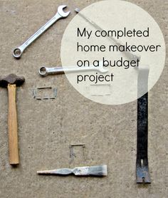 Completed home makeover on a budget