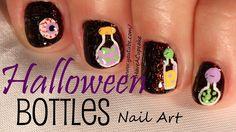Halloween Bottles Nail Art