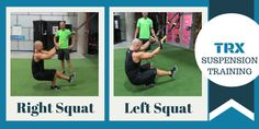 TRX Suspension Training Leg Squats, way better for you and more fun than normal squats