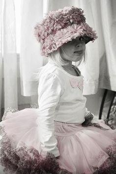 . hats, little girls, tutu, color, children, babi, pink, flower girls, kid