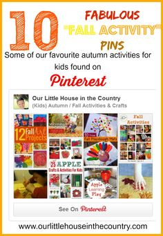 10 Fantastic Fall Activities for Kids - Autumn Arts, Crafts and Lots More