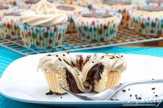 Vanilla Bean Cookie Butter Cup Cupcake