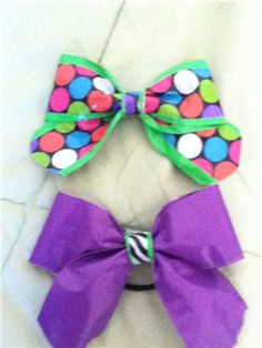 Duck Tape Cheer Bows!