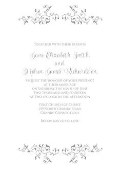 Stylized Foliage and Leaves Invitation