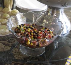 Texas Caviar in the Ruffle Glass Bowl from Willow House