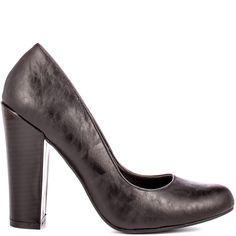 Leeds heels Black PU brand heels Michael Antonio