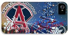 Baseballs Iphone Cases - Anaheim Angels iPhone Case by Joe Hamilton
