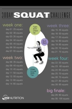30 day squat challenge--this one is much more my speed :)