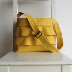 mustard ruffle bag