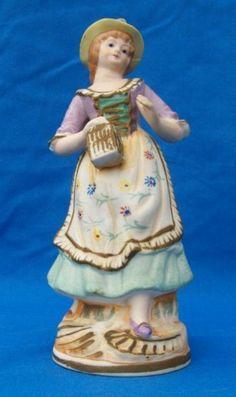 porcelain girl figureine Mauri Japan #SYLink
