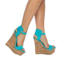 wedge shoes, turquois wedg, wonder wedg, color, teal wedg